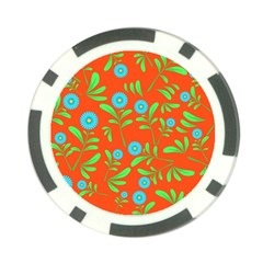 Background Texture Seamless Flowers Poker Chip Card Guard by Sapixe