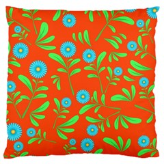 Background Texture Seamless Flowers Large Cushion Case (one Side)