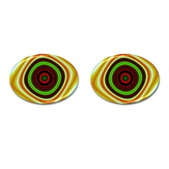 Digital Art Background Yellow Red Cufflinks (oval) by Sapixe
