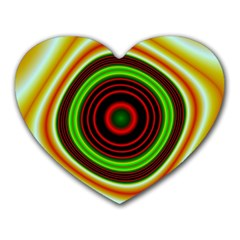 Digital Art Background Yellow Red Heart Mousepads