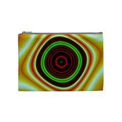 Digital Art Background Yellow Red Cosmetic Bag (medium) by Sapixe