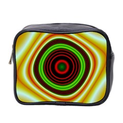 Digital Art Background Yellow Red Mini Toiletries Bag (two Sides) by Sapixe