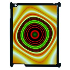 Digital Art Background Yellow Red Apple Ipad 2 Case (black) by Sapixe