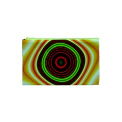 Digital Art Background Yellow Red Cosmetic Bag (xs)