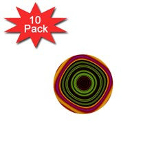 Digital Art Background Yellow Red 1  Mini Buttons (10 Pack)