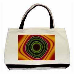 Digital Art Background Yellow Red Basic Tote Bag (two Sides) by Sapixe