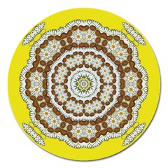 Pretty As A Flower Everywhere You Can See Magnet 5  (round) by pepitasart
