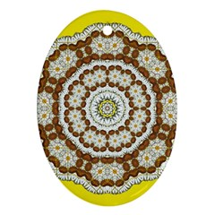 Pretty As A Flower Everywhere You Can See Oval Ornament (two Sides) by pepitasart