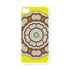 Pretty As A Flower Everywhere You Can See Apple Iphone 4 Case (white) by pepitasart