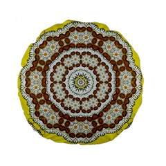 Pretty As A Flower Everywhere You Can See Standard 15  Premium Round Cushions by pepitasart