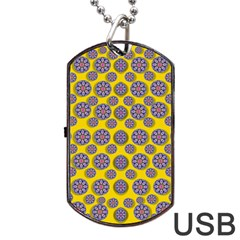 Sunshine And Floral In Mind For Decorative Delight Dog Tag Usb Flash (one Side) by pepitasart