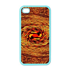 Orange Seamless Psychedelic Pattern Apple Iphone 4 Case (color) by Jojostore