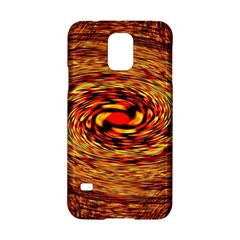 Orange Seamless Psychedelic Pattern Samsung Galaxy S5 Hardshell Case