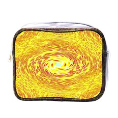 Yellow Seamless Psychedelic Pattern Mini Toiletries Bag (one Side)