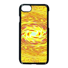Yellow Seamless Psychedelic Pattern Apple Iphone 7 Seamless Case (black)