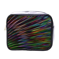 Texture Colorful Abstract Pattern Mini Toiletries Bag (one Side)