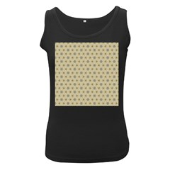 Star Basket Pattern Basket Pattern Women s Black Tank Top