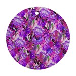 Flowers Abstract Digital Art Ornament (Round) Front