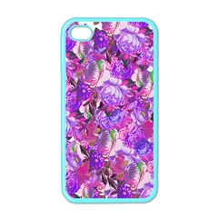 Flowers Abstract Digital Art Apple Iphone 4 Case (color)