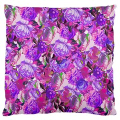 Flowers Abstract Digital Art Large Cushion Case (two Sides) by Jojostore