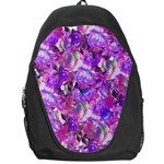 Flowers Abstract Digital Art Backpack Bag Front