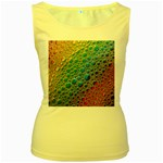 Bubbles Rainbow Colourful Colors Women s Yellow Tank Top Front