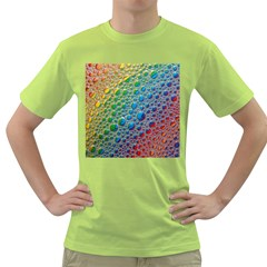 Bubbles Rainbow Colourful Colors Green T Shirt