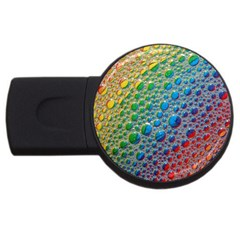 Bubbles Rainbow Colourful Colors Usb Flash Drive Round (2 Gb)