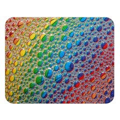 Bubbles Rainbow Colourful Colors Double Sided Flano Blanket (large)