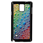 Bubbles Rainbow Colourful Colors Samsung Galaxy Note 4 Case (Black) Front