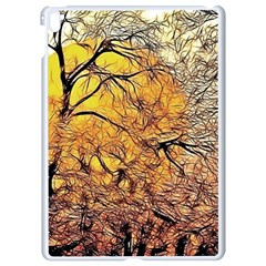 Summer Sun Set Fractal Forest Background Apple Ipad Pro 9 7   White Seamless Case
