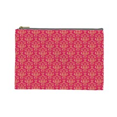 Damask Background Gold Cosmetic Bag (large) by Jojostore