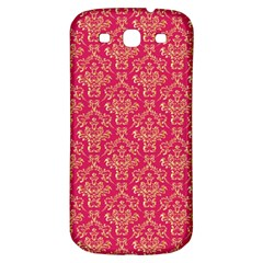Damask Background Gold Samsung Galaxy S3 S Iii Classic Hardshell Back Case by Jojostore
