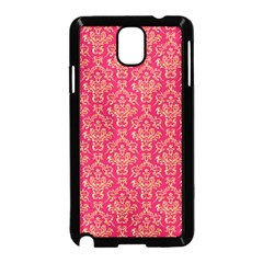 Damask Background Gold Samsung Galaxy Note 3 Neo Hardshell Case (black)
