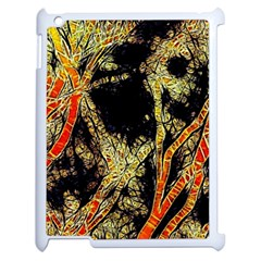 Artistic Effect Fractal Forest Background Apple Ipad 2 Case (white) by Jojostore