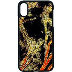 Artistic Effect Fractal Forest Background Apple Iphone X Seamless Case (black) by Jojostore