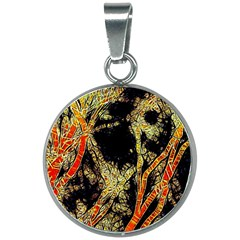 Artistic Effect Fractal Forest Background 20mm Round Necklace