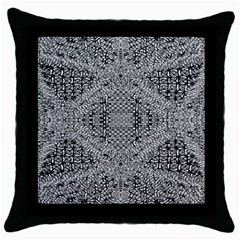 Gray Psychedelic Background Throw Pillow Case (black)