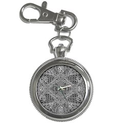 Gray Psychedelic Background Key Chain Watches by Jojostore