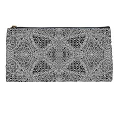 Gray Psychedelic Background Pencil Cases by Jojostore