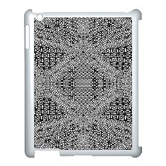 Gray Psychedelic Background Apple Ipad 3/4 Case (white)