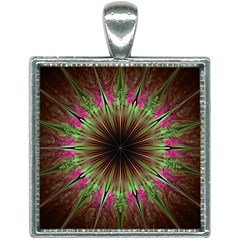 Julian Star Star Fun Green Violet Square Necklace