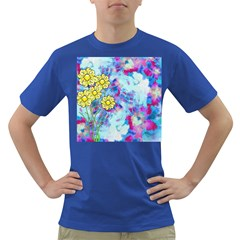 Backdrop Background Flowers Dark T Shirt