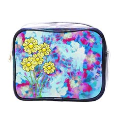 Backdrop Background Flowers Mini Toiletries Bag (one Side)