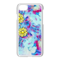 Backdrop Background Flowers Apple Iphone 8 Seamless Case (white)