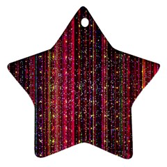 Colorful And Glowing Pixelated Pixel Pattern Ornament (star) by Jojostore