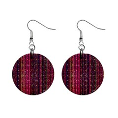 Colorful And Glowing Pixelated Pixel Pattern Mini Button Earrings by Jojostore