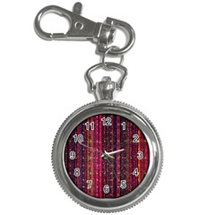 Colorful And Glowing Pixelated Pixel Pattern Key Chain Watches by Jojostore
