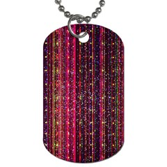 Colorful And Glowing Pixelated Pixel Pattern Dog Tag (two Sides) by Jojostore