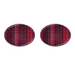 Colorful And Glowing Pixelated Pixel Pattern Cufflinks (oval) by Jojostore